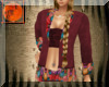western wine red suit