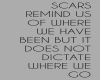 Scars Remind Us