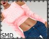 !! Shoulder Top Pink