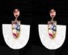 GL-White Fringe Earrings