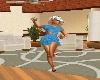 Blue Top & Skirt