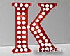 H. Marquee Letter Red K