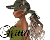 (K)Army hat with hair