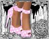 {E}Pink Polkadot Heels