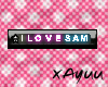[XY] I LOVE SAM name tag