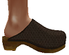 TF* Brown leather Clog