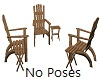 Rustic Chairs Area