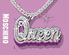 Queen Sliver Necklace .