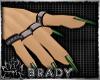 [B]emerald green nails