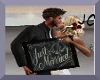 Just Married Sign/Kiss
