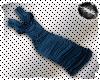 Blue Cowl Wrap Dress