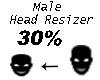 Head Resizer Avatar 30%