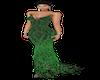 Green Gliter long dress