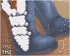 Kai Fur Boots -Blu