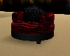 Black an Red couple sofa