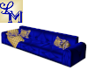 !LM Long Fun Blue Couch
