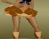 brown panel skirt