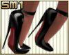 SM1 7in blk Strap Heels