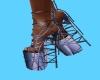 Neon platforms shoes