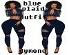 blue plaid outfit
