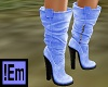 !Em Boots Lt Blue Suede