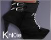 K cheer black boots