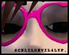 Pink Heart Glasses.