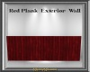 Red Exterior Plank Wall