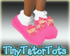 Summer Stripe Doll Shoes