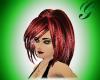 black/red streaked hair