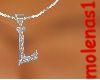 *M* Letter L Necklace M