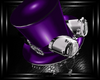 b purple steampunk hat