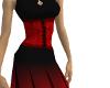 [CDP]Corset dress redblk