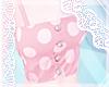 ~White + Pink Polka Tank
