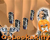 ~Oo Zebra Warrior Nails