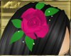 Fuschia Rose Clip