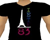 Eiffel V Collar T-Shirt
