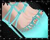 Sweetheart Aqua Heels