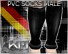 +KM+ PVC Socks Blk MALE