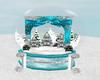 Teal Snow Globe