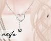 🌸 Heart Necklace Slvr