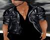 Leather Jacket Blk Shirt