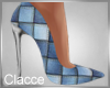 C patches denim heels