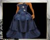 blue prom gown