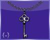 {-} Key Necklace   Blk
