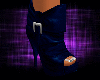 Royal Blue Heel Boots