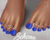 ṩ| Blue Pedicure