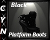 Blk Platform Boots