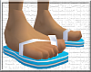 *CA* Blue Flip Flops