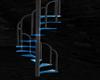 Blue Neon spiral stairs